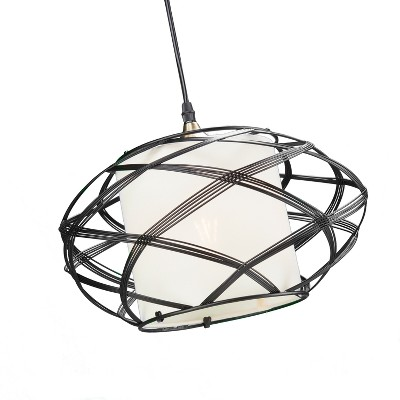 Anwyn Wire Cage Pendant Lamp - Black - Aiden Lane