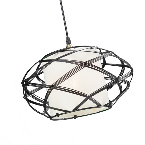 Anwyn Wire Cage Pendant Lamp - Black - Aiden Lane - image 1 of 6