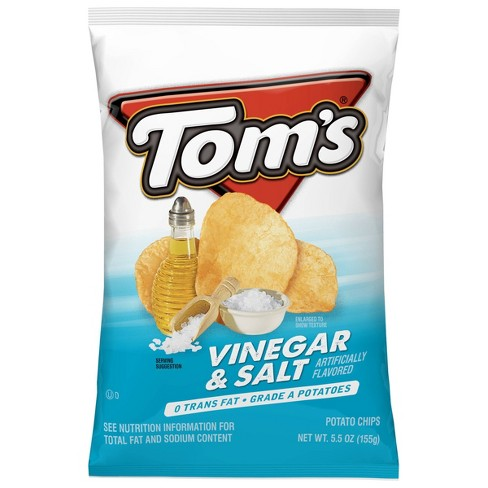 Tom'sVinegar & Salt Flavored Potato Chips - 5.5oz - image 1 of 4