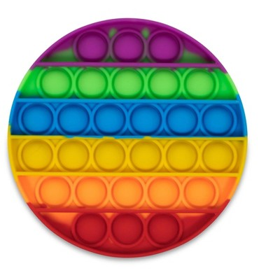 BOB Gift Pop Fidget Toy Silicone Bubble Popping Game   Rainbow Round