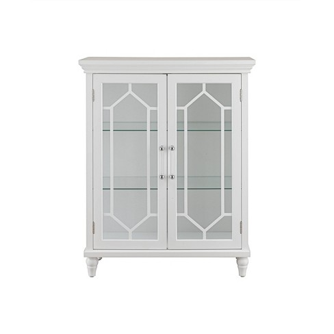 Amazing Toulouse 2 Door Floor Cabinet White Elegant Home Fashions Home Remodeling Inspirations Genioncuboardxyz