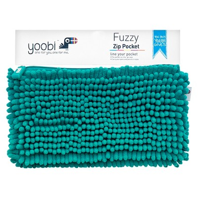Fuzzy Pocket Pencil Case Aqua - Yoobi™