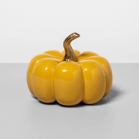 "4"" x 3.3"" Cast Metal Pumpkin Yellow - Opalhouse™ - image 1 of 1"