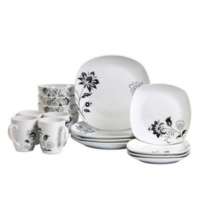 16pc Porcelain Rebecca Dinnerware Set - Tabletops Gallery
