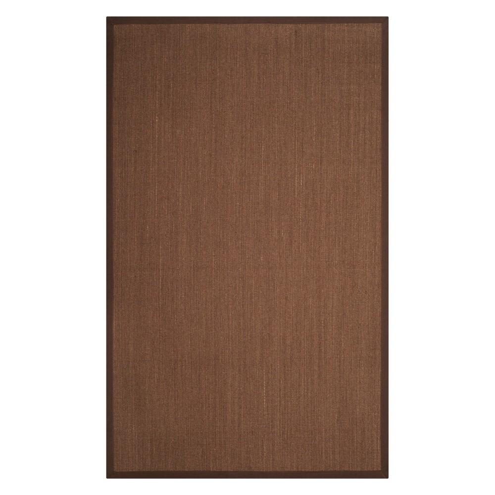6'X9' Solid Loomed Area Rug Brown - Safavieh