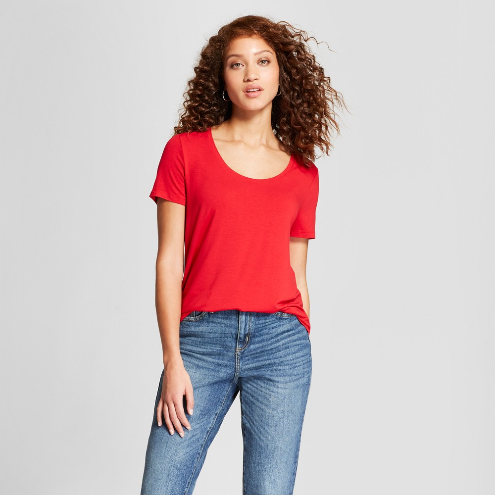 Women's Any Day Short Sleeve Scoop T-Shirt - A New Day Red Xxl, Red Pop