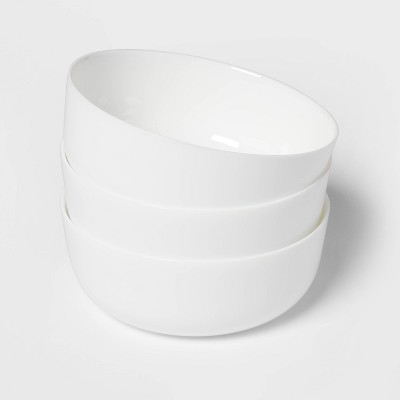 44oz 3pk Glass Dinner Bowls White - Made By Design™