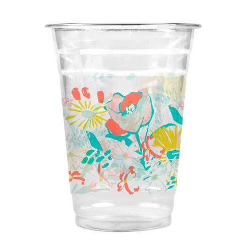 Oh Joy! for Cheeky Multi color Floral 16oz Cold Cups - 20ct - image 1 of 2