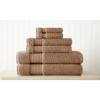 Modern Threads 6-Piece 100% Turkish Cotton Towel Set.