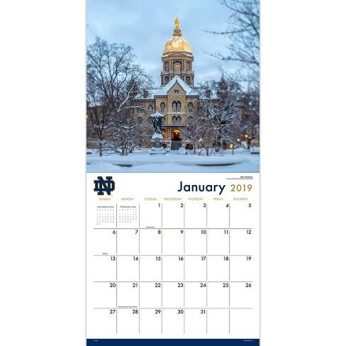 Notre Dame Calendar 2019 2019 Wall Calendar University Of Notre Dame   TF Publishing : Target