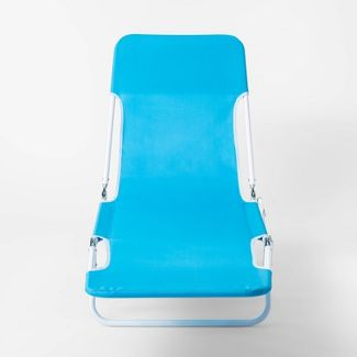 Outdoor Beach Lounger Blue - Sun Squad™