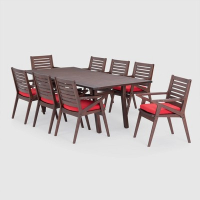 Vaughn 9pc Rectangle Dining Set - RST Brands