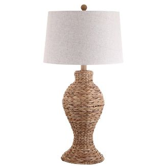 """31"""" Elicia Seagrass Weave LED Table Lamp Natural (Includes Energy Efficient Light Bulb) - JONATHAN Y"""