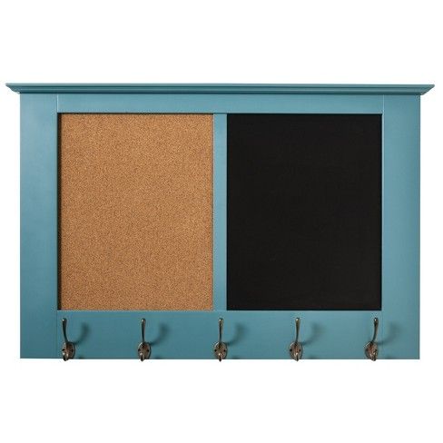 Windham Wall Rack Wood/Teal - Threshold™ - image 1 of 2