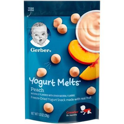 Gerber Yogurt Melts Peach Freeze-Dried Snacks - 1oz