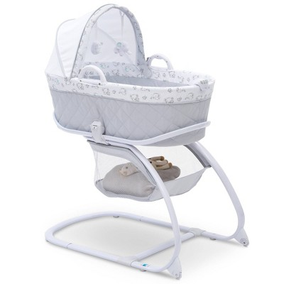 Delta Children Deluxe Moses Bassinet - Elephant Dreams