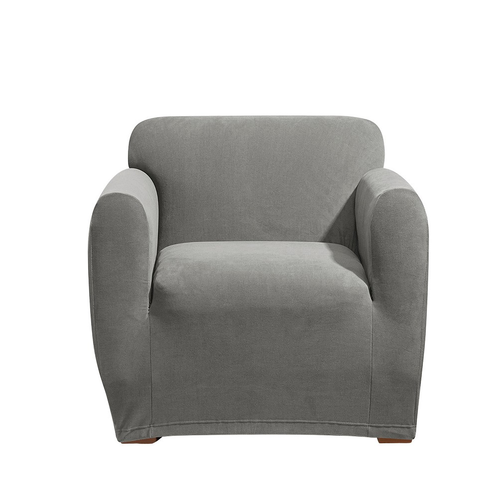 Stretch Morgan Chair Slipcover Gray - Sure Fit