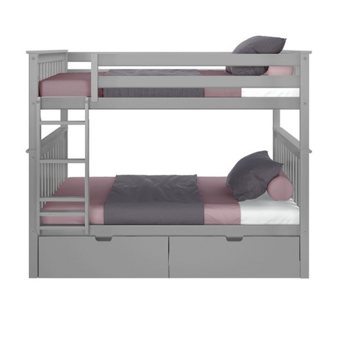 Max Lily Full Over Full Bunk Bed With Storage Drawers Target