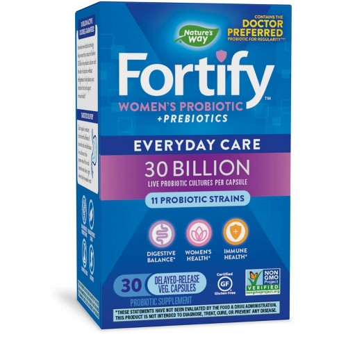Nature's Way Fortify Women's Probiotic Capsules - 30ct - image 1 of 4