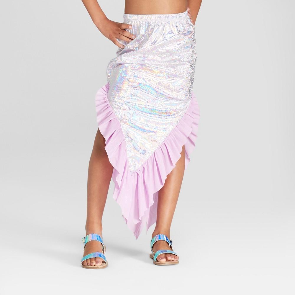 Girls' Mermaid Swim Skirt - Cat & Jack Purple M