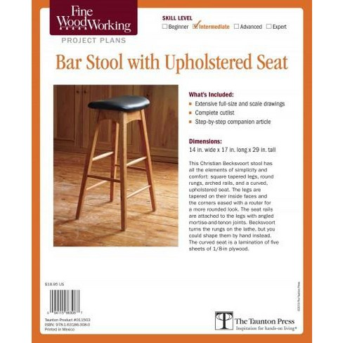 Fine Woodworking Bar Stool With Upholstered Seat Target