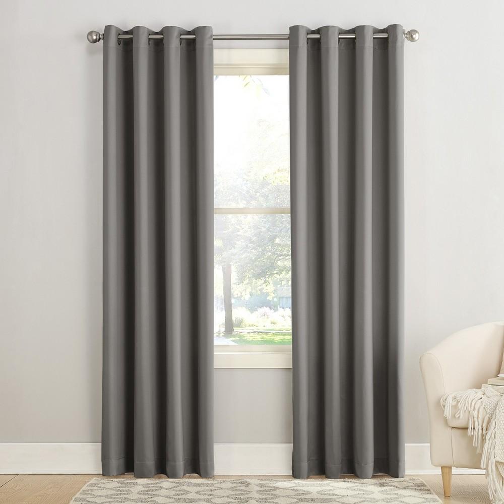 84 34 X54 34 Seymour Energy Efficient Grommet Room Darkening Curtain Panel Steel Sun Zero