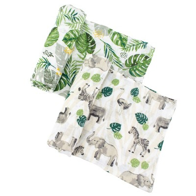 Bebe au Lait Muslin Swaddle Set Rainforest - Jungle