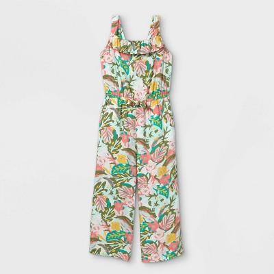 Girls' Woven Sleeveless Jumpsuit - Cat & Jack™