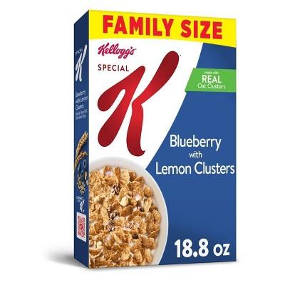 Special K Blueberry Lemon Clusters Family Size Breakfast Cereal - 18.8oz - Kellogg's