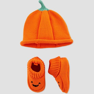 Baby Halloween Pumpkin Hat and Bootie - Just One You® made by carter's Orange One Size