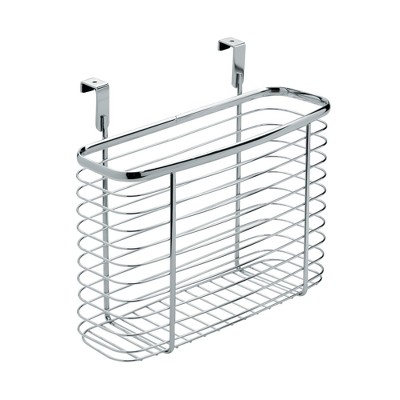 InterDesign Axis Over-the-Cabinet Steel Storage Basket 11  Chrome