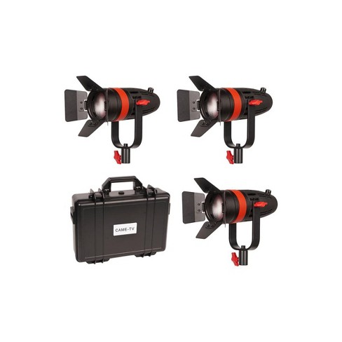 Came-TV Boltzen 55W Focusable LED Fresnel 3-Light Kit, Includes 3x Soft Filters, 3x Milky-White Filters, 3x Orange Filters - image 1 of 4