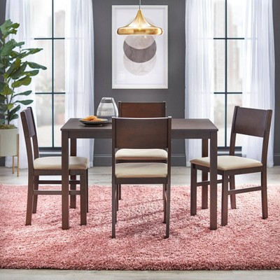 5pc Lucca Dining Set Beige/Brown - Buylateral
