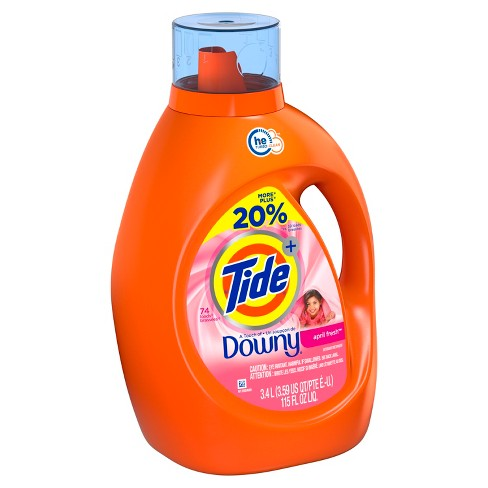 Tide Plus HE Touch of Downy April Fresh Liquid Laundry Detergent - 115 fl oz - image 1 of 3