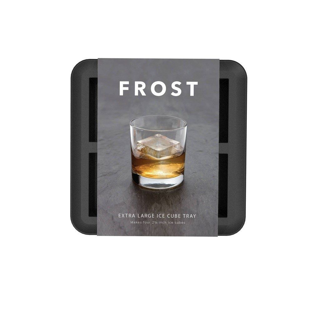 Image of Silicone Non-Stick Large Ice Cube Tray Gray - Assembly Brands