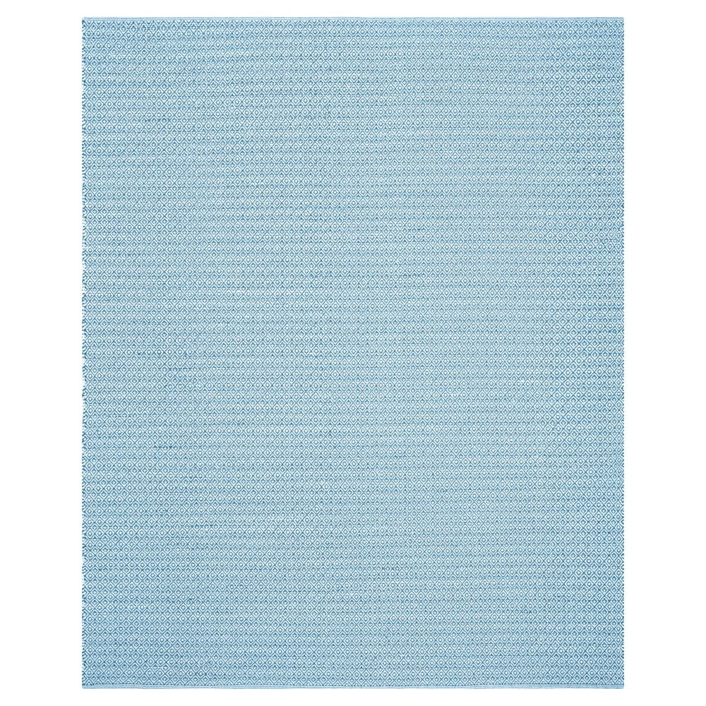 Blue Geometric Flatweave Woven Area Rug 8'x10' - Safavieh