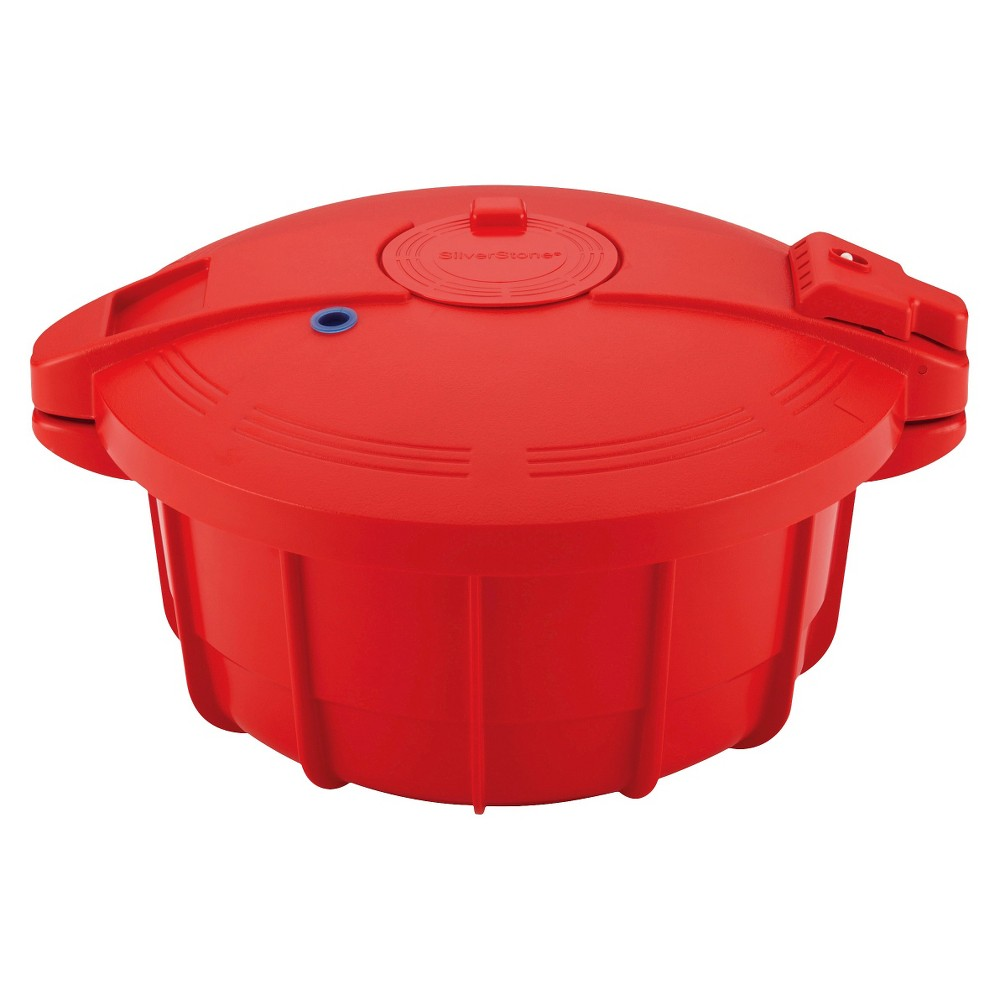Image of Silverstone Microwave Pressure Cooker - Red