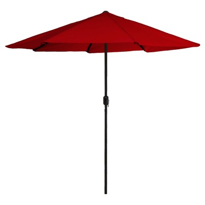 9' Aluminum Patio Umbrella with Auto Crank - Pure Garden