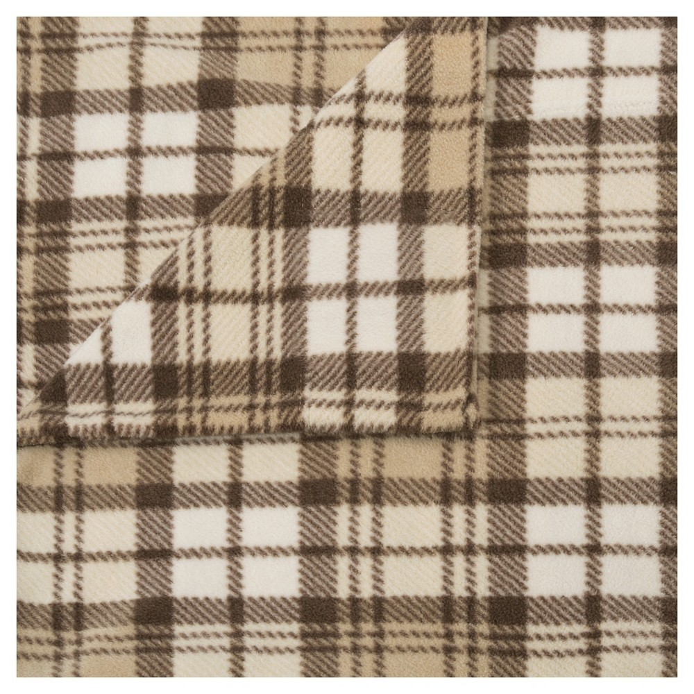 Microfleece Sheet Set (King) Tan Plaid