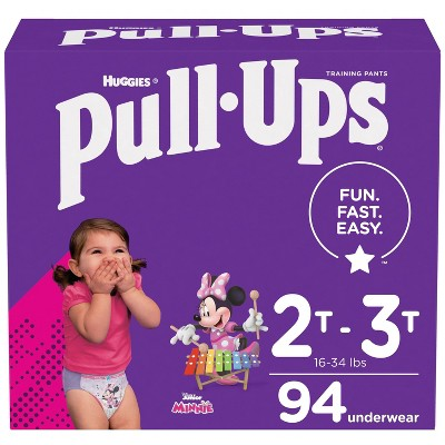 Huggies Pull Ups Girls' Potty Training Pants - 2T-3T (94ct)