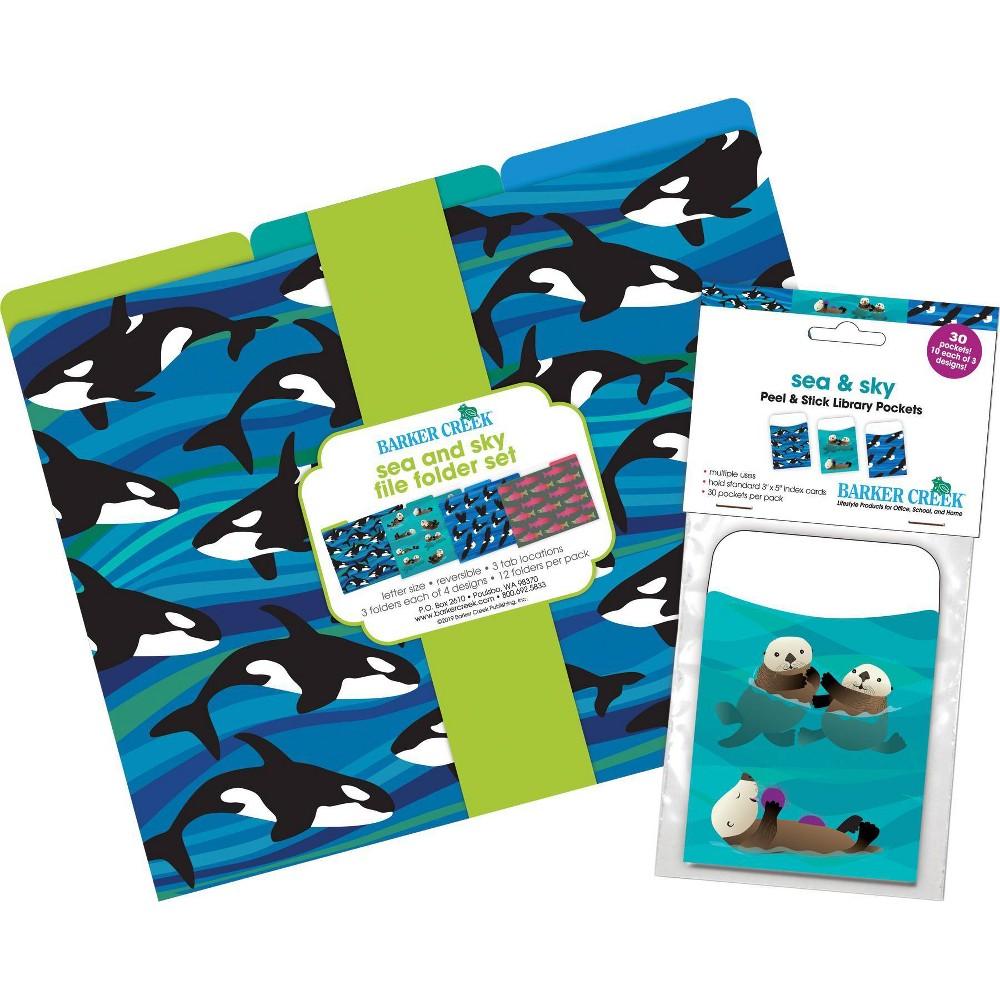 Barker Creek Folder / Pocket File Folders - Sea & Sky, Multi-Colored