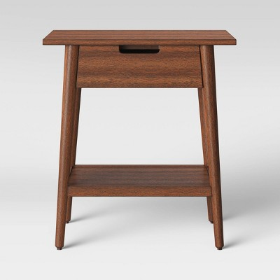 Ellwood Wood End Table with Drawer Brown - Project 62™