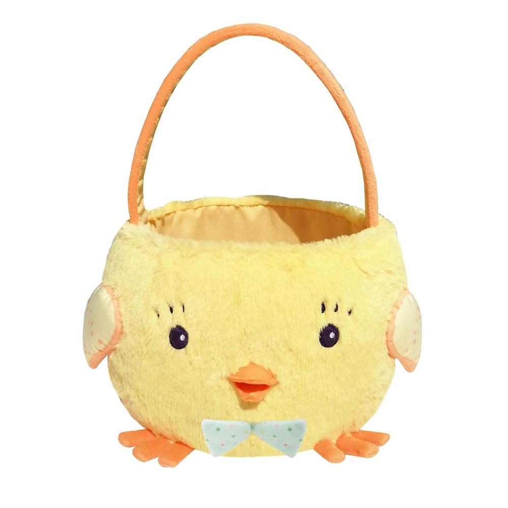 10 Easter Plush Chick Basket Yellow - Spritz