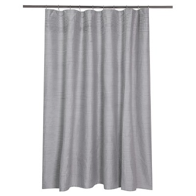 Stripe Pleat Shower Curtain White/Gray - Fieldcrest®