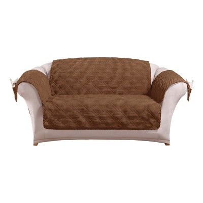 Wide Wale Corduroy Loveseat Furniture Cover Sure Fit