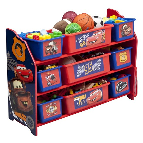 9 Bin Plastic Toy Organizer Disney Pixar Cars   Delta Children