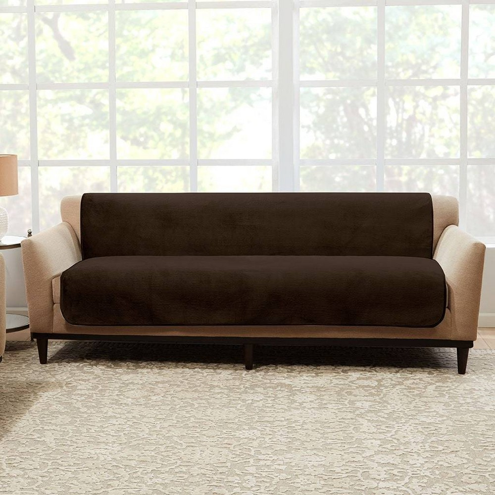 Luxe Sofa Furniture Protector Chocolate Sure Fit