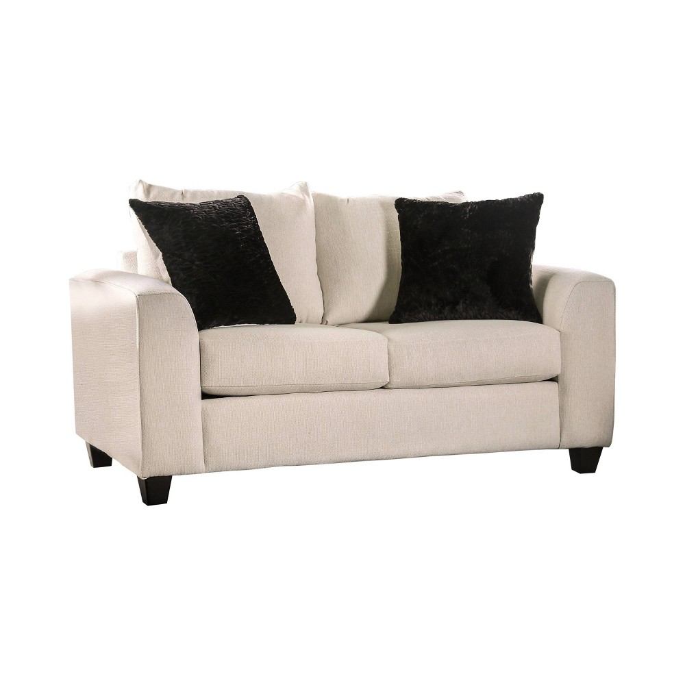 Tanner Angled Arm Loveseat Ivory Homes Inside Out