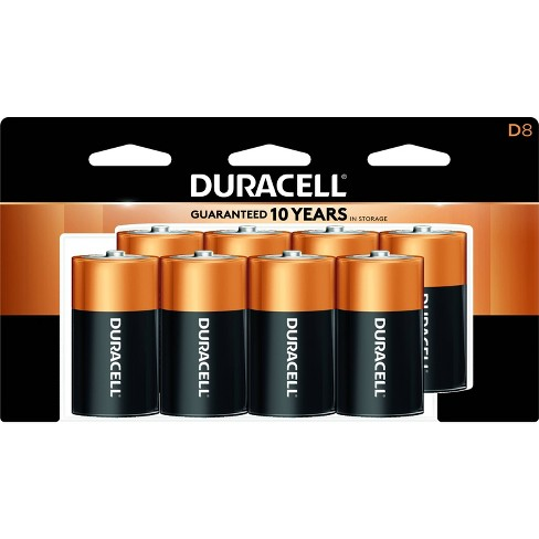 Duracell Coppertop D Batteries - 8 Pack Alkaline Battery - image 1 of 2
