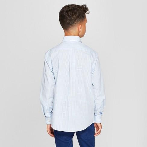 4ac6c89d7b Boys  Checked Long Sleeve Button-Down Shirt - Cat   Jack™ Blue White ...